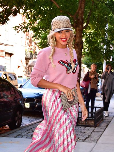 Beyonce Knowles's Breastfeeding Braids