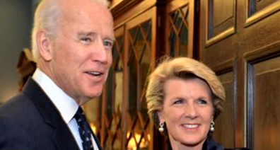 Julie Bishop  told Today she met Joe Biden several times during her stint as Foreign Minister.
