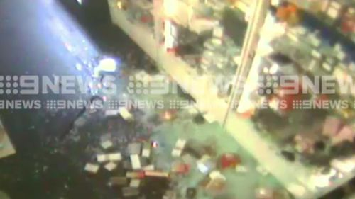 The thieves targeted the business just after 5am. (9NEWS)