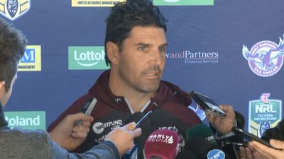 Manly chairman Scott Penn confirms Trent Barrett is out as Sea Eagles hunt new coach