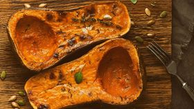 Darren Robertson's whole roasted butternut pumpkin with ricotta, currants and herbs