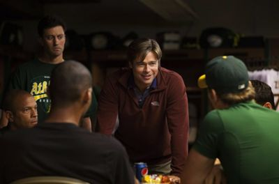 Brad grew some greys and packed on the kilos to play baseball coach Billy Beane in the 2011 drama Moneyball.<br/><br/>Check out the trailer for Brad's newie, <i>Killing Them Softly</i>, next.
