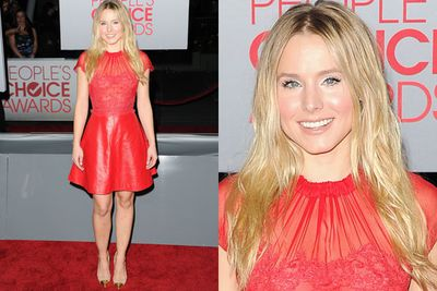<i>Veronica Mars</i> star Kristen Bell does red on red.