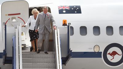 The royal tour of Australia will last six days and began in Adelaide yesterday after the couple flew into the RAAF Base Edinburgh in Adelaide, South Australia. (AAP)