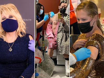 What celebrities are wearing to get vaccinated