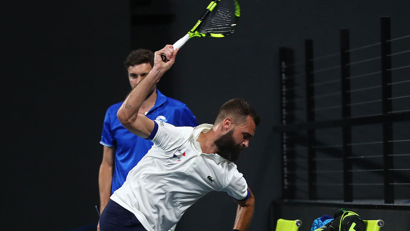 Benoit Paire destroys racquet in ATP cup meltdown