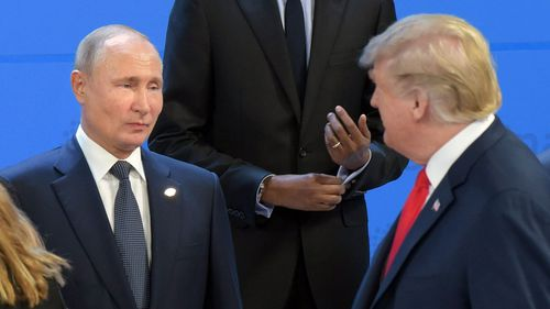 Vladimir Putin and Donald Trump at the G20 last week.