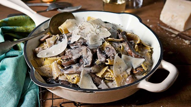 White wine & mushroom ragoût with sagnarelli