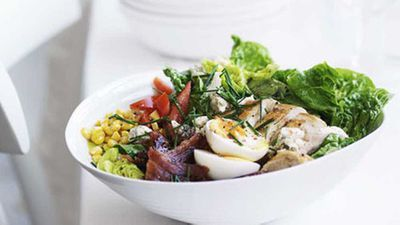 "Click here for the perfect <a href=""http://kitchen.nine.com.au/2016/05/16/19/48/cobb-salad"" target=""_top"">classic cobb salad</a> recipe"