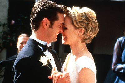 Because Kelly belonged with Brenda's brother, Brandon. Like most TV relationships, they were off and on throughout the show's run and even got as far as their wedding day before calling it quits again. They should have made it!