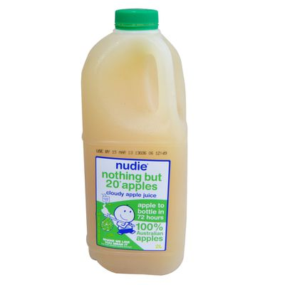 <strong>Nudie Nothing But Apples = 10.8 grams of sugar per 100ml</strong>