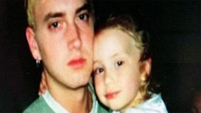 Eminem and daughter Hailie Jade Scott Mathers.