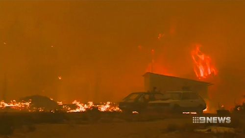 A total of 106 Portuguese lost their lives when wildfires hit farming communities last year.. Picture: 9NEWS
