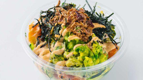 Poku's kingfish, hijiki and avocado poke bowl