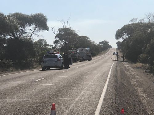 The driver of the car was flown to hospital in a critical condition. (9NEWS)