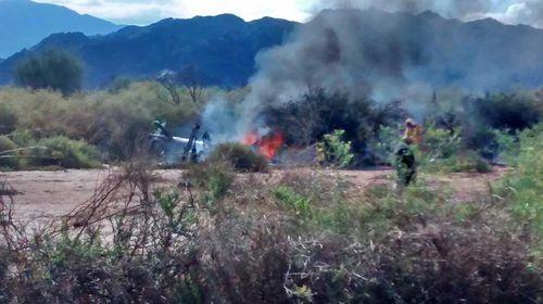 Ten dead in South American double chopper crash