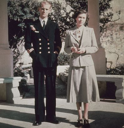 Prince Philip and Princess Elizabeth pictured in Malta during their honeymoon in 1947.