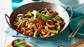 Sweet and sour lamb stir fry