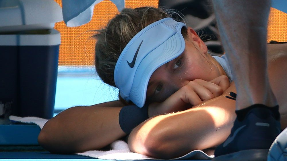 Canada's Eugenie Bouchard in doubt for Australian Open after buttocks injury at Hopman Cup