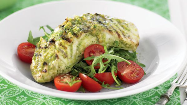 BBQ pesto fish