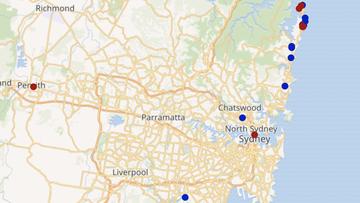 NSW hotspot map.