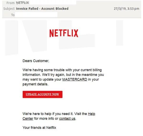 Netflix scam: Phishing scam attempts to steal login