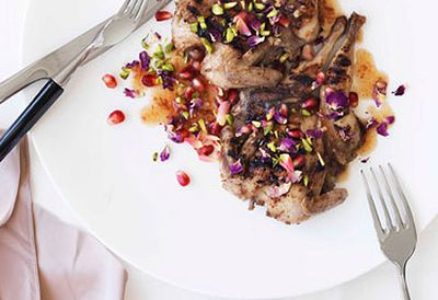 Char-grilled quail with pomegranate