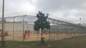 The Irwin County Detention Center in Ocilla, Georgia, is seen in February 2018.