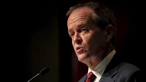 Bill Shorten, pictured in Hobart, Tasmania, yesterday, is enjoying a Labor lead in the polls, but not a personal one.