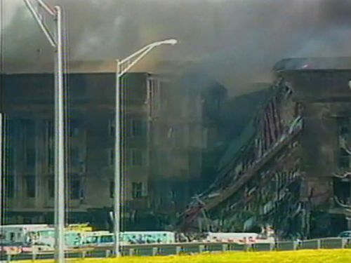 Smoke from the burning Pentagon filled the nearby air.