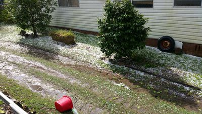 Hail in Wagstaffe. (Supplied / Aaron Edwards)