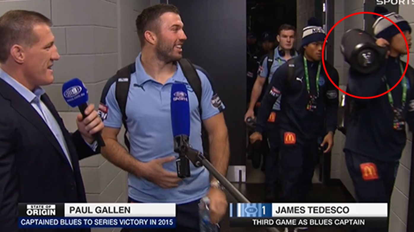 NSW debutant Jarome Luai pulls out boombox as rowdy Blues roll into town