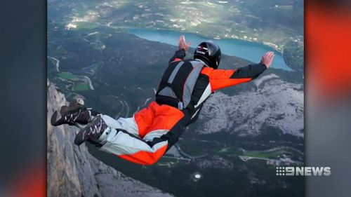 Fathers has been base jumping for 20 years.
