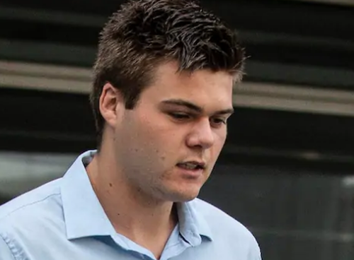 Rhyce Butcher Corney pleaded guilty to the assault on Andrew McNab and was handed a suspended 20 month sentence.