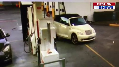 Tayla Daly was caught on CCTV filling up her car. Picture: Supplied