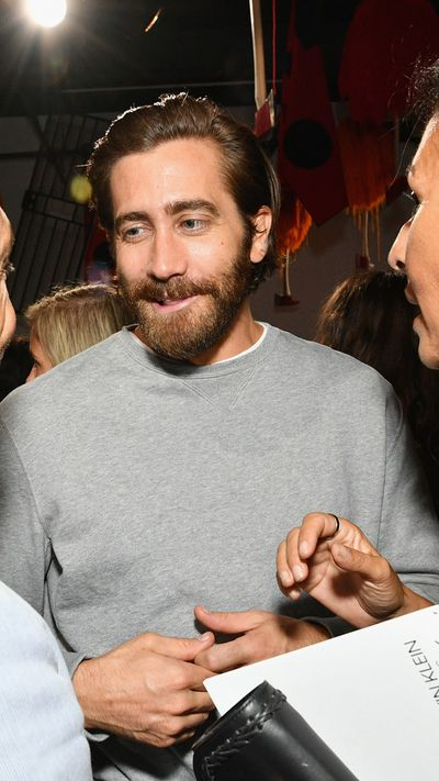 Jake Gyllenhaalfront row at Calvin Klein, New York Fashion Week, September 2017.
