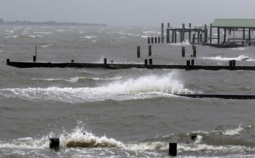 Waves from Hurricane Florence hit Emerald Isle off the North Carolina coast.
