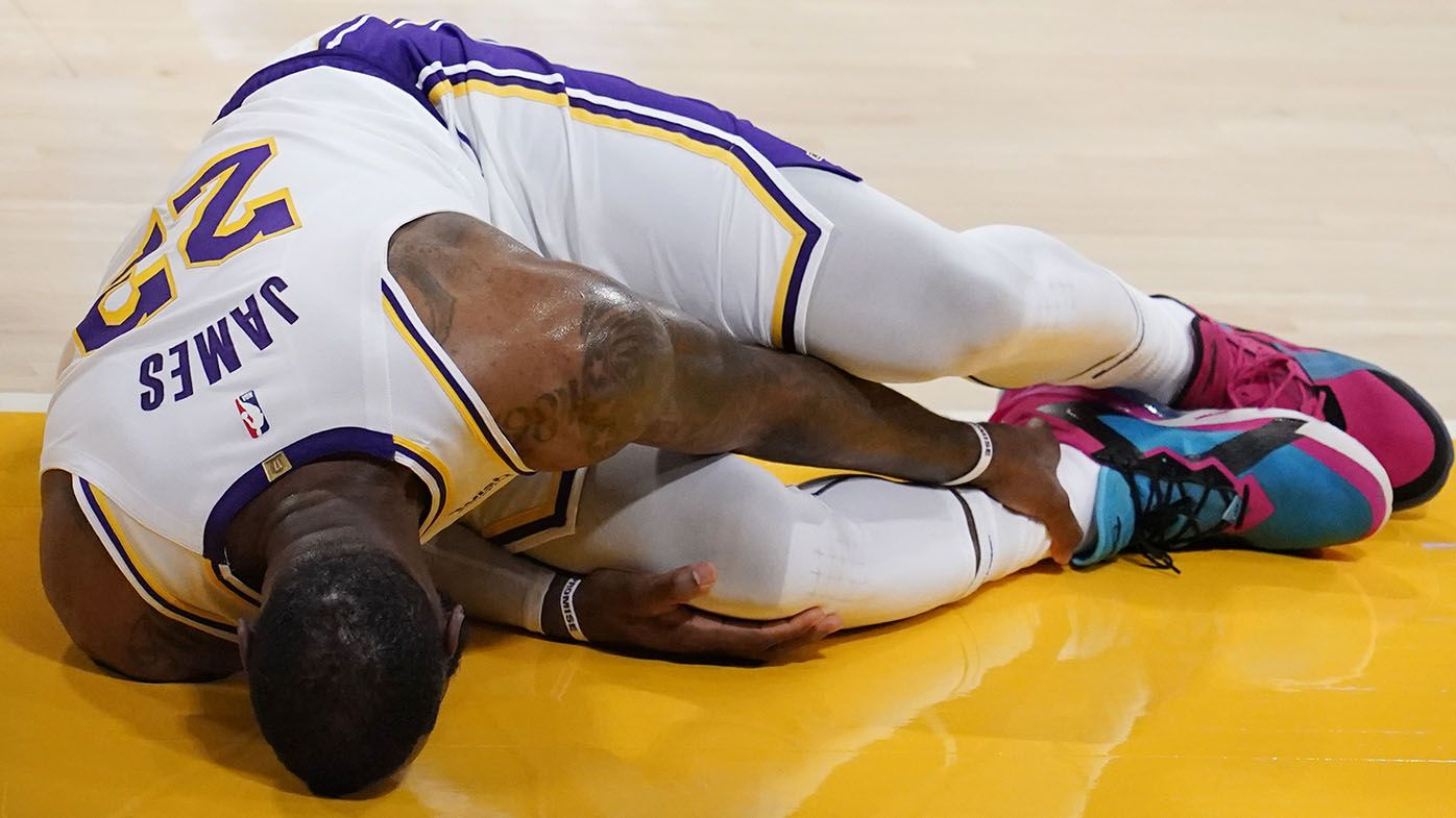 LeBron James injures his ankle in Lakers-Hawks NBA game, faces time on sideline