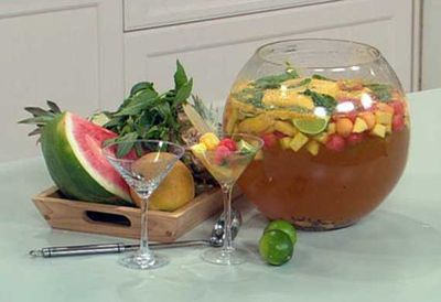 Tropical fruit sangria