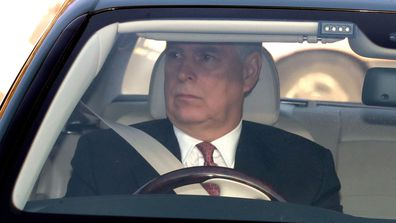 Prince Andrew arriving at Buckingham Palace for Queen's Christmas Lunch 2019