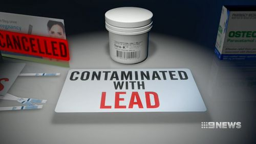 The TGA found Duro-K potassium chloride was contaminated with lead.