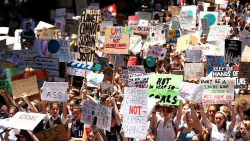 Thousands of school children abandoned classes to demand action against climate change.
