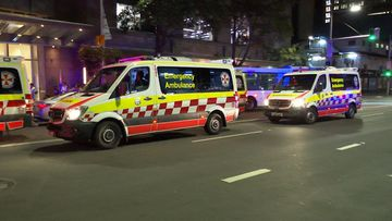 Several ambulance crews attended the scene in Sydney's CBD around 12.30am.
