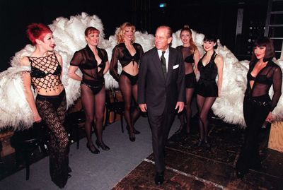 Prince Philip with the Chicago cast in 1999