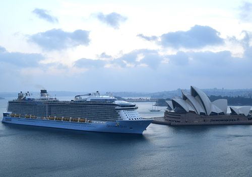 Royal Caribbean International's cruise ship Ovation of the Seas arrives in Sydney Harbour after returning from New Zealand. Some of the tourists on New Zealand's White Island during Monday's volcano eruption were passengers on a cruise ship visiting the area.