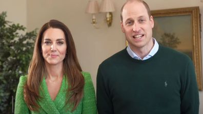 Kate Middleton and Prince William's playful video message for St Patrick's Day