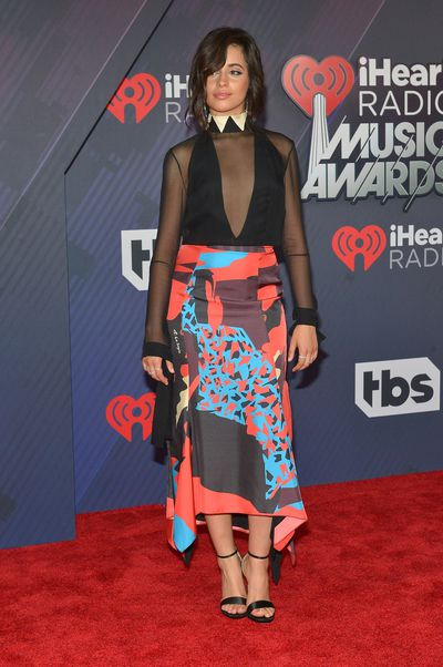 Camilla Cabelloat the 2018 iHeart Radio Music Awards in Los Angeles