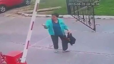 """<p>A woman in the Netherlands had a terrible start to her day when a security camera captured a boom gate closing right down on her head. </p> <p> The woman was not even distracted by a phone or headphones as she walked along the roadway last Thursday morning. </p> <p> A van passed through the gate and the boom began to lower when the oblivious woman appeared. </p> <p> Her head and eyes were cast downward when the red-and-white gate came down and slammed down on her head. </p> <p> After hitting her the gate reversed direction as the woman rubbed her forehead, raising her hands in disbelief at the gate as if to say: """"What the hell, gate?"""" </p> <p> She wanders off rubbing her noggin. </p> <p> As one person commented on the Dutch website <a href=""""http://www.dumpert.nl/mediabase/6664647/4f330778/die_zag_je_niet_aankomen,_he_.html"""">Dumpert</a>: """"I notice quite often that many people have no idea what is happening around them."""" </p> <p> If you're having a bad day, this gallery might make you feel a bit better about yourself. </p> <p> Take a look through for more moments that can be put down to bad luck or buffoonery. </p> <p> </p>"""