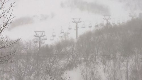 The avalanche occurred in the town of Nasu.