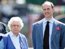 Queen Elizabeth II and Donatus, Prince and Landgrave of Hesse in 2014